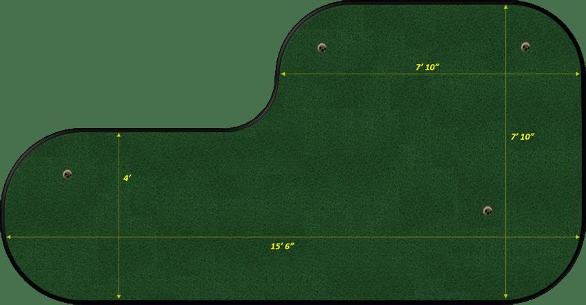 8x15 L Shaped Green