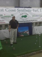 putting green at a trade show