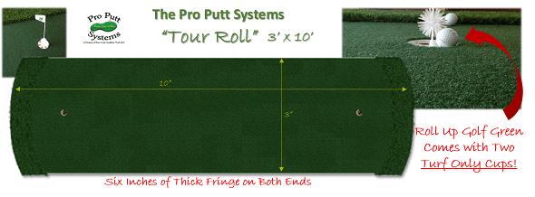 tour roll putting green strip