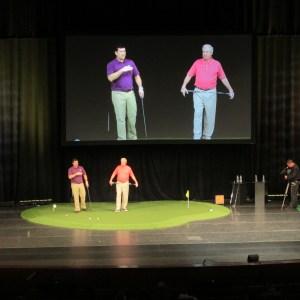 custom putting green onstage at international pga merchandise show