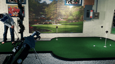 golf room and man cave