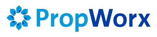 PropWorx White | Logo | All-in-One Property Management and Accounting Software