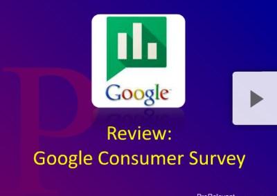 Google Consumer Survey Review