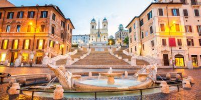 Piazza,De,Spagna,In,Rome,,Italy