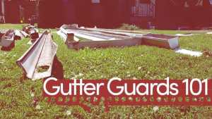 gutter guards 101 graphic
