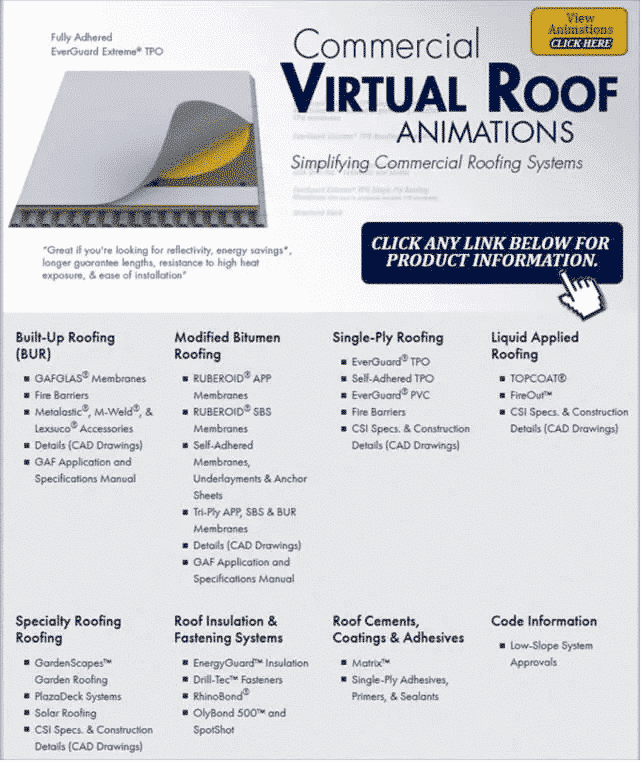 GAF Commercial Virtual Home Infographic