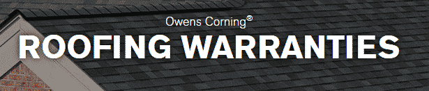 owens corning roofing warranties