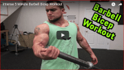 Intense 5 Minute Barbell Bicep Workout
