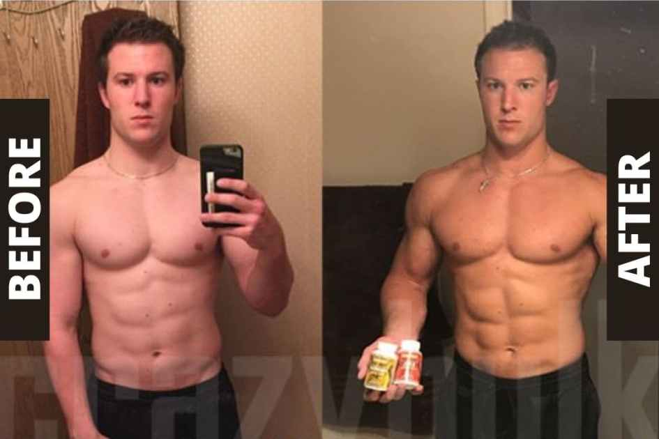 Crazy Bulk Bulking Stack Before and After