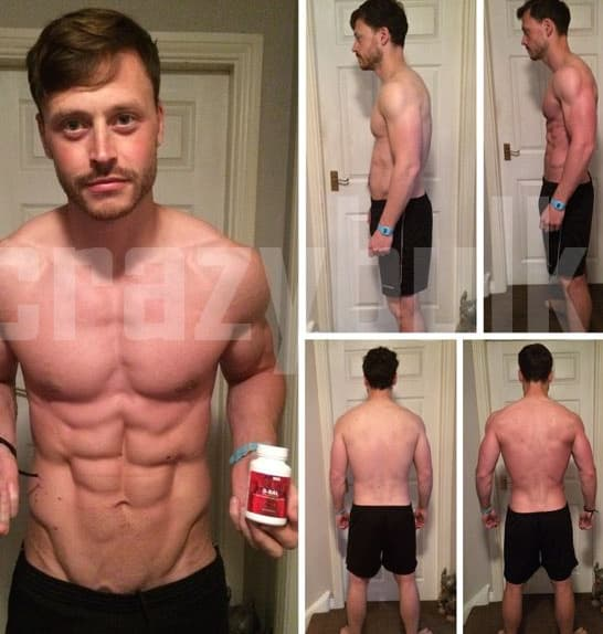 Real Before After bulking stack from crazy bulk