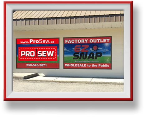 ProSew Showroom in Vernon BC