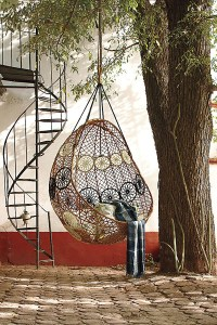 Knotted Melati Neutral Motif Hanging Chair | ProShopaholic.com