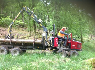 Small scale log moving machines are necessary for selective harvesting.