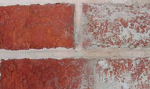 how to clean brick for interior or
