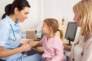 医者の受付の子供