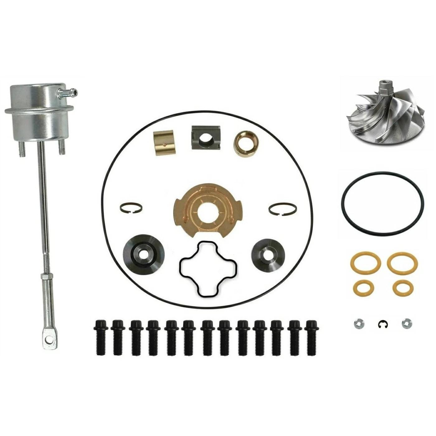 GTP38 Turbo Rebuild Kit Billet Wheel Wastegate for 99-03 7