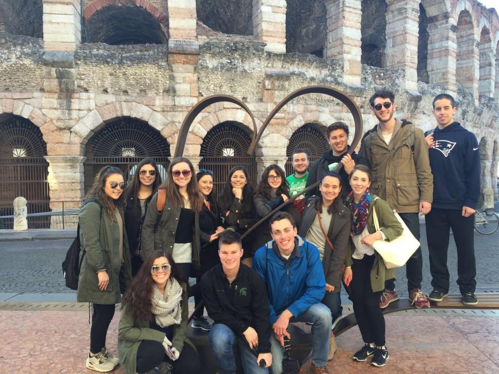 The day after arriving in Italy, we traveled to Piazza Bra in Verona to see the Arena, a 1,000-year-old monument similar to the Coliseum.