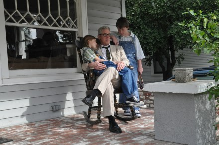 3 on porch