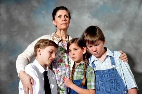 Jenni and kids sad