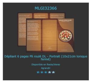 Un des modèles de prospectus  kebab personnalisable sur notre site d'imprimerie en ligne.