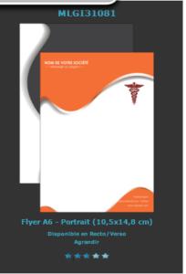 Retrouvez ce modèle d'affiche pour pharmacie sur notre site d'imprimeur en ligne.