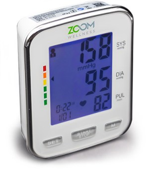 zoom wellness wrist blood pressure monitor