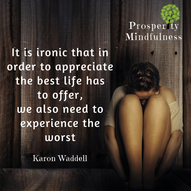 it is ironic that in order to appreciate the best life.prosperitymindfulness.191