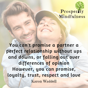 you can't promise a partner a perfect relationship.prosperitymindfulness