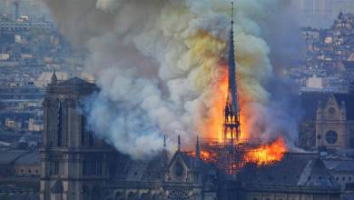 Photo of Notre Dame Caught on Fire