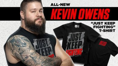 Photo of Kevin Owens' T-Shirt Earnings Dedicated to Mental Health Organizations