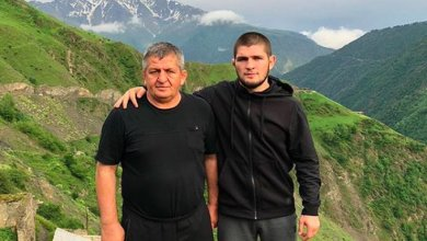 Photo of Abdulmanap Nurmagomedov in COMA at Moscow Millitary Hospital