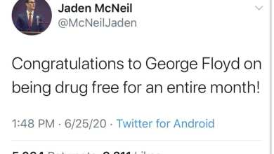 Photo of Jaden McNeil, Student at Kansas State University, is Under Fire After Posting George Floyd Tweet