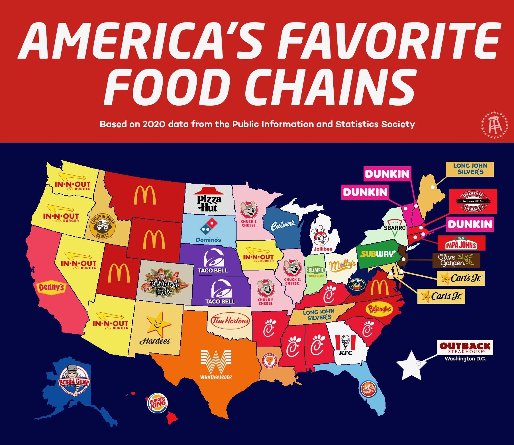 Can We All Agree This America S Favorite Food Chains Map