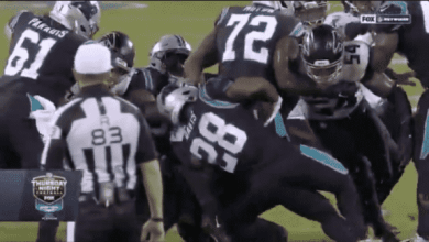 Photo of Panthers' Mike Davis Almost Created Buttfumble 2.0 (Video)