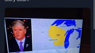 Photo of Picture from Fox News' 'Hannity' Shows the Upper Peninsula as Part of Canada