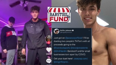 Photo of Griffin Johnson Will Duet Your TikTok And Donate The Proceeds To The Barstool Fund | @imgriffjohnson @stoolpresidente @pearpopofficial
