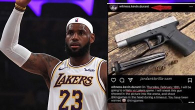 Photo of Racist NBA Fan Posts Plan To Kill LeBron James At A Game
