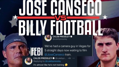 Photo of Jose Canseco Not Training Ahead Of Fight With Billy Football? Is He Going To Show Up? @Billyhottakes @calebpressley @stoolpresidente @BarstoolBigCat