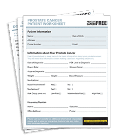 Prostate Cancer Patient Work Sheet
