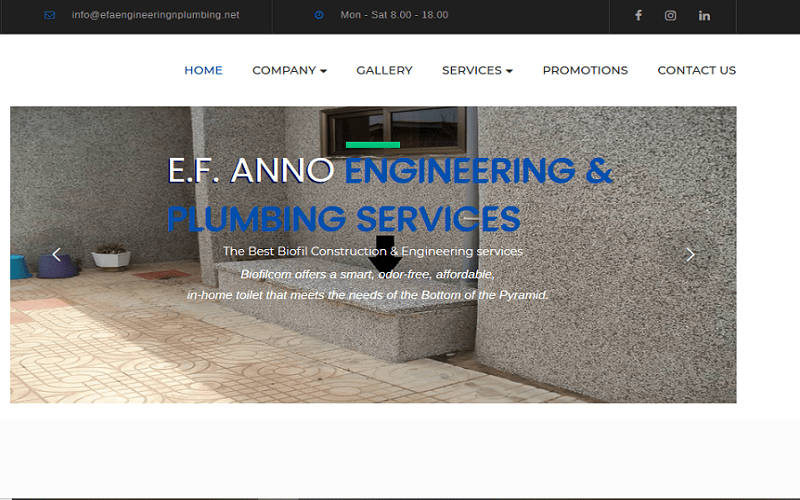 EF Anno homepage -feature