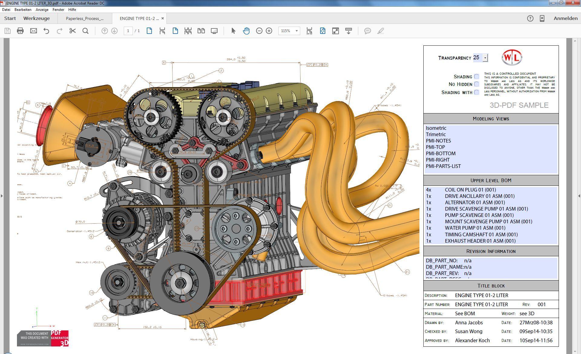 3d pdf technology for