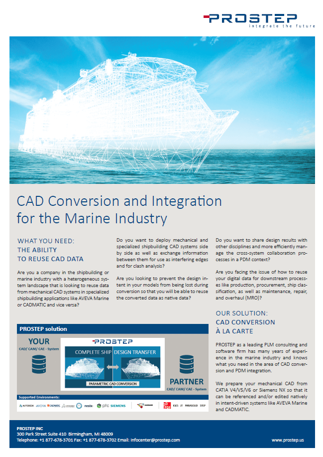 ​CAD Conversion and Integration for the Marine Industry Information Sheet