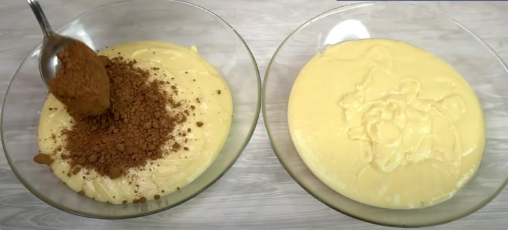 Пиріг «Зебра» на згущеному молоці