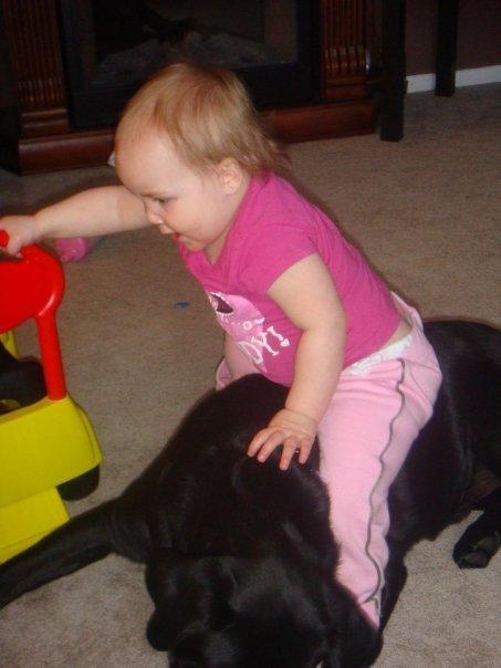 Женщина была на девятом месяце беременности, когда ей неожиданно подарили большую собаку