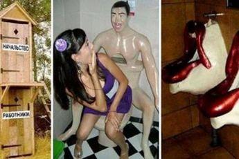 20 самых нелепых и странных туалетов со всего мира
