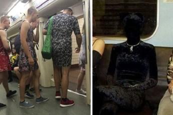 В метро можно встретить довольно интересных и загадочных персонажей