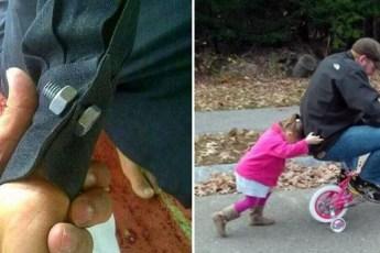 Забавные фото из серии «Отец плохому не научит»