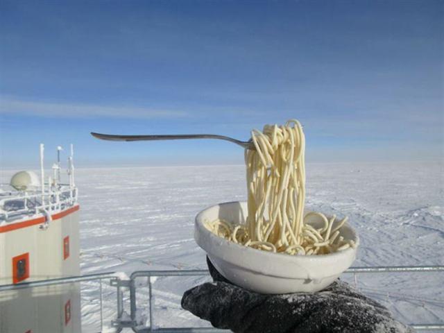 Что будет, если попытаться пообедать при -70ºC
