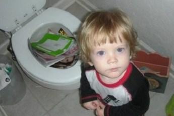 Когда оставил ребенка без присмотра, всего на секунду