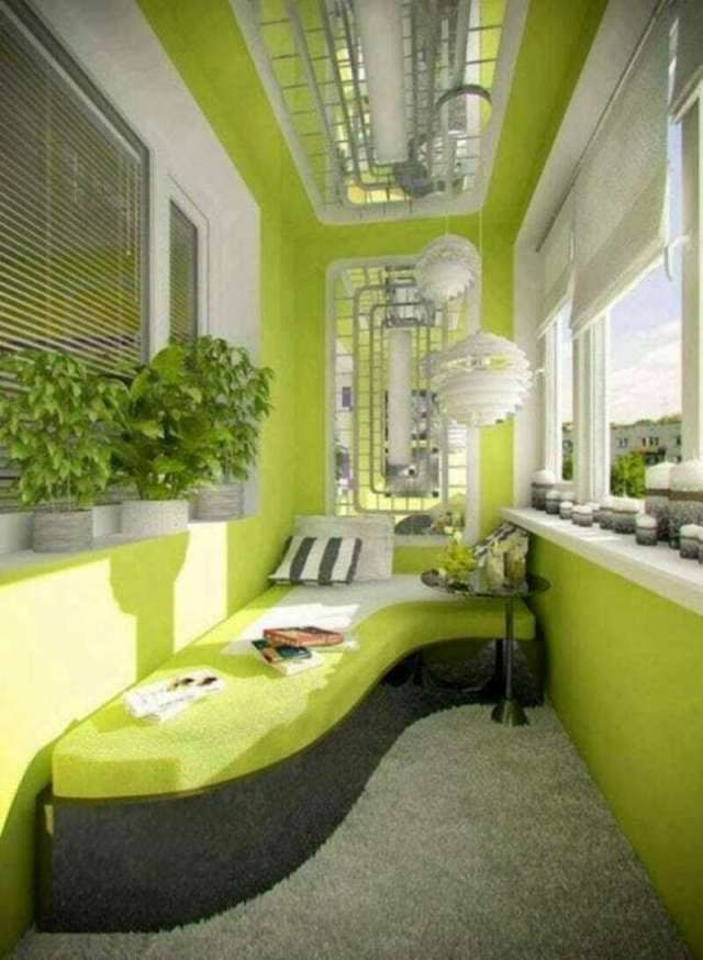 Интересные идей облагораживания балконного помещения